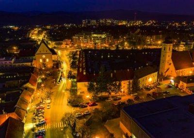 Pezinok in the night